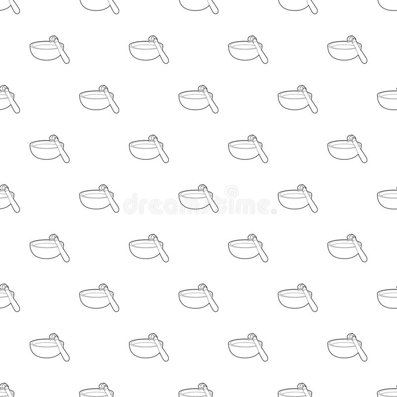 Grillbürsten-Mustervektor nahtlos stock abbildung