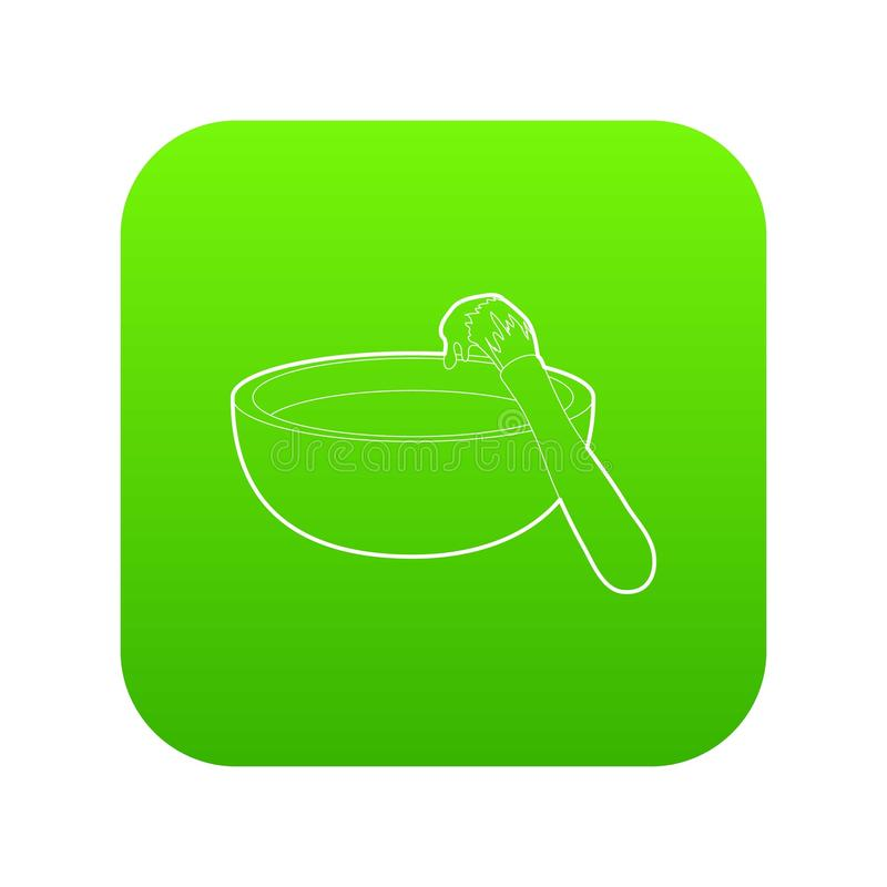 Grillbürstenikonen-Grünvektor stock abbildung
