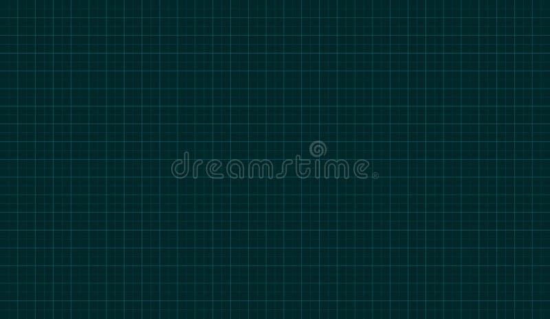 Grille de carré vert de technologie illustration libre de droits