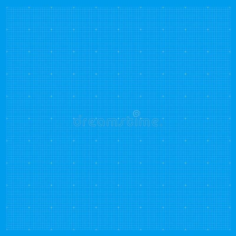 Grille de fond de modèle Modèle métrique de papier bleu de graphique Texture de dessin de modèle illustration de vecteur