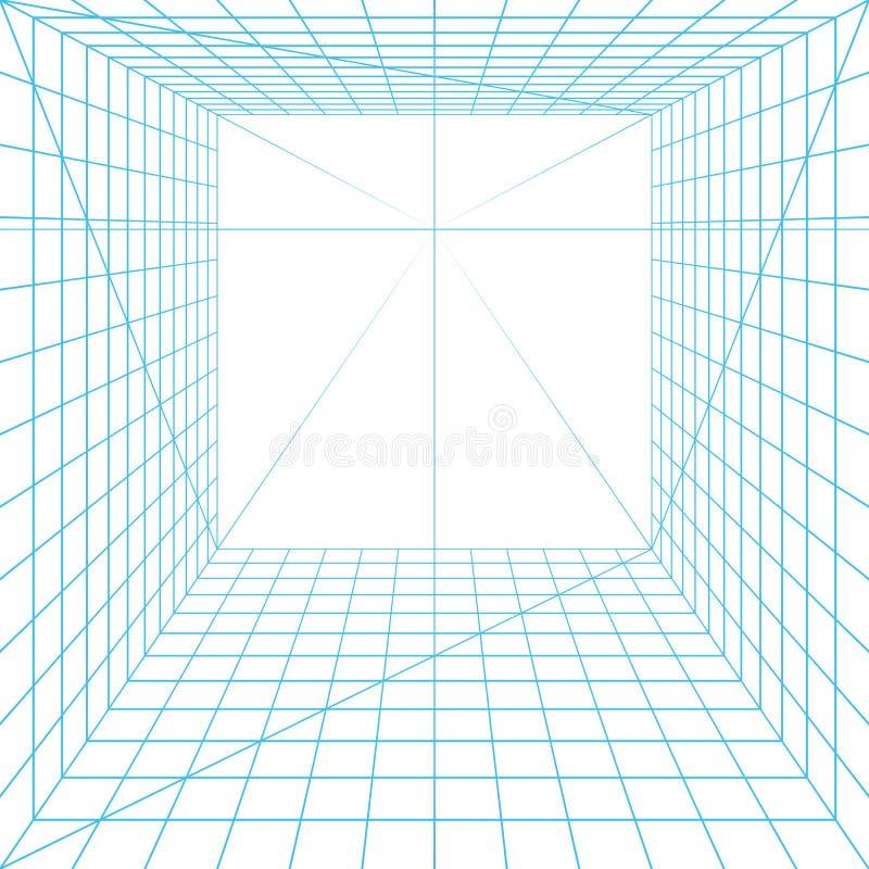 Grille de perspective illustration libre de droits