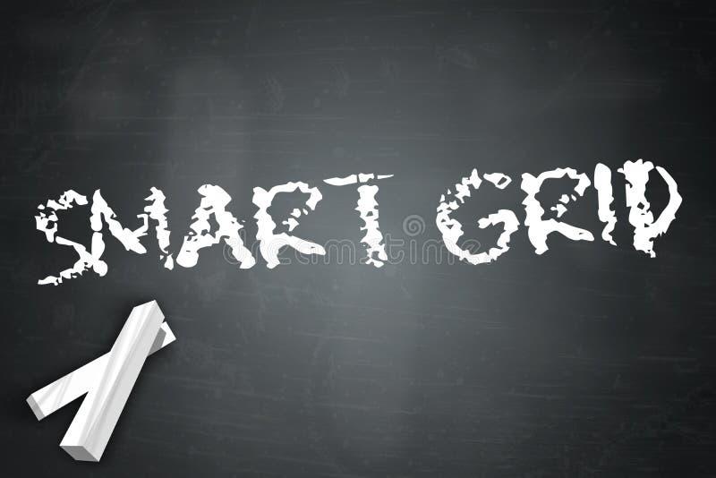 Grille de Smart de tableau noir illustration de vecteur