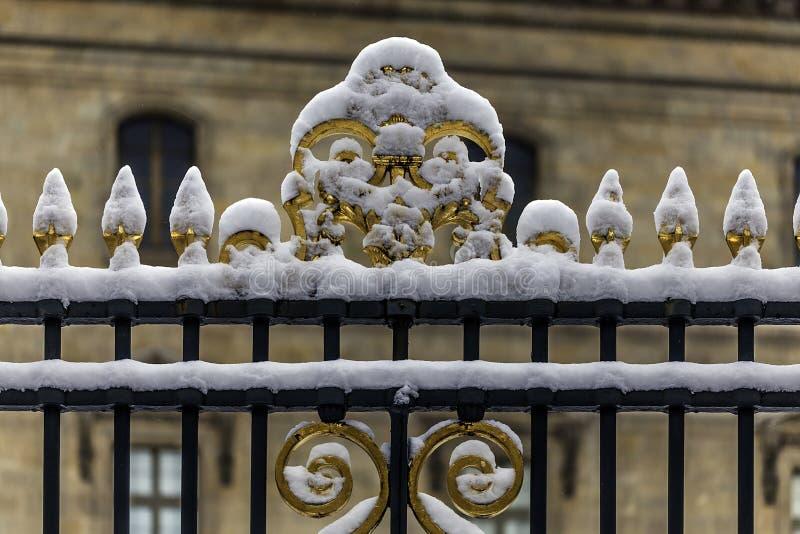 Grille du palais du Louvre image libre de droits