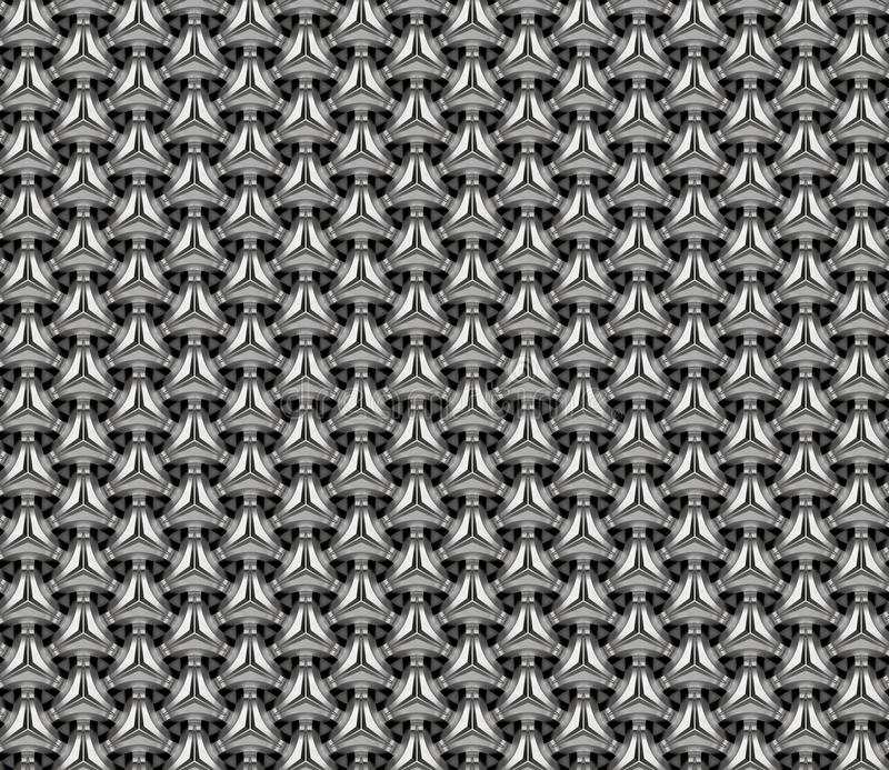 Grille en aluminium l'illustration 3d rendent illustration stock