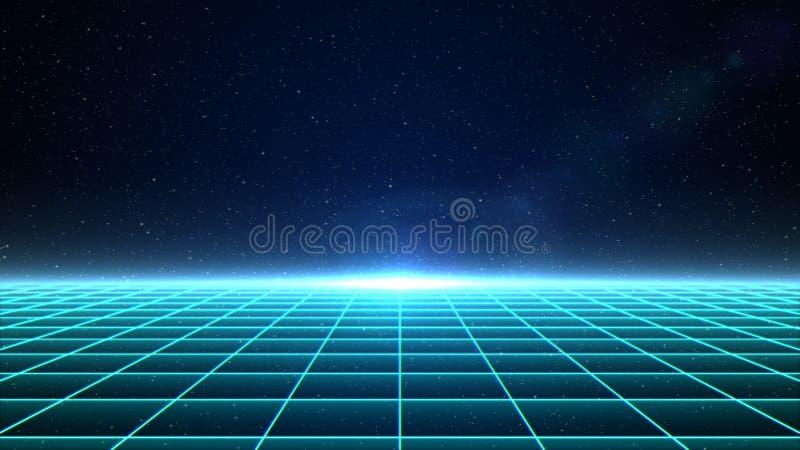 Grille horizontale de matrice dans l'espace illustration libre de droits