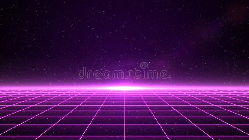 Grille horizontale de matrice dans l'espace illustration de vecteur