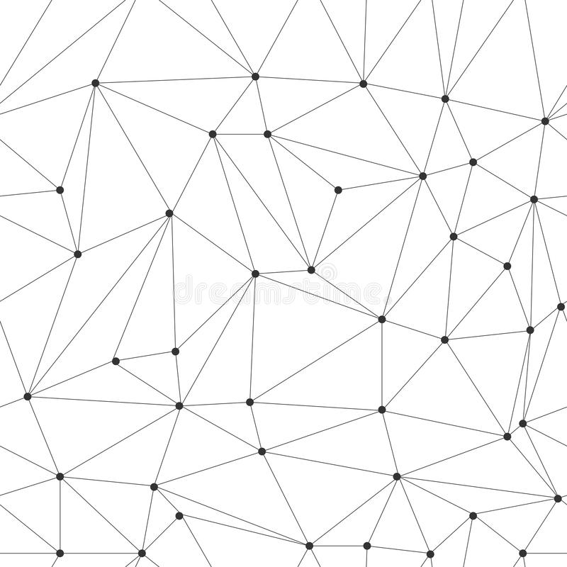 GRILLE IRRÉGULIÈRE DE TRIANGLE AVEC LA TEXTURE DE POINT DE JONCTION Modèle sans couture géométrique moderne de vecteur photographie stock libre de droits