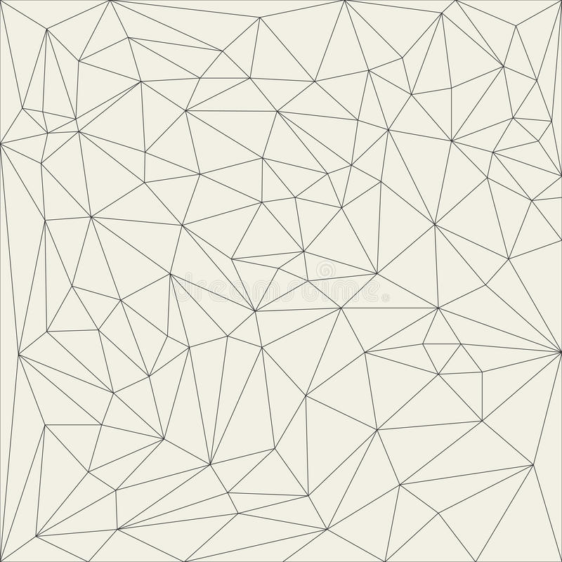 Grille linéaire abstraite irrégulière Modèle monochrome réticulé de texture illustration de vecteur
