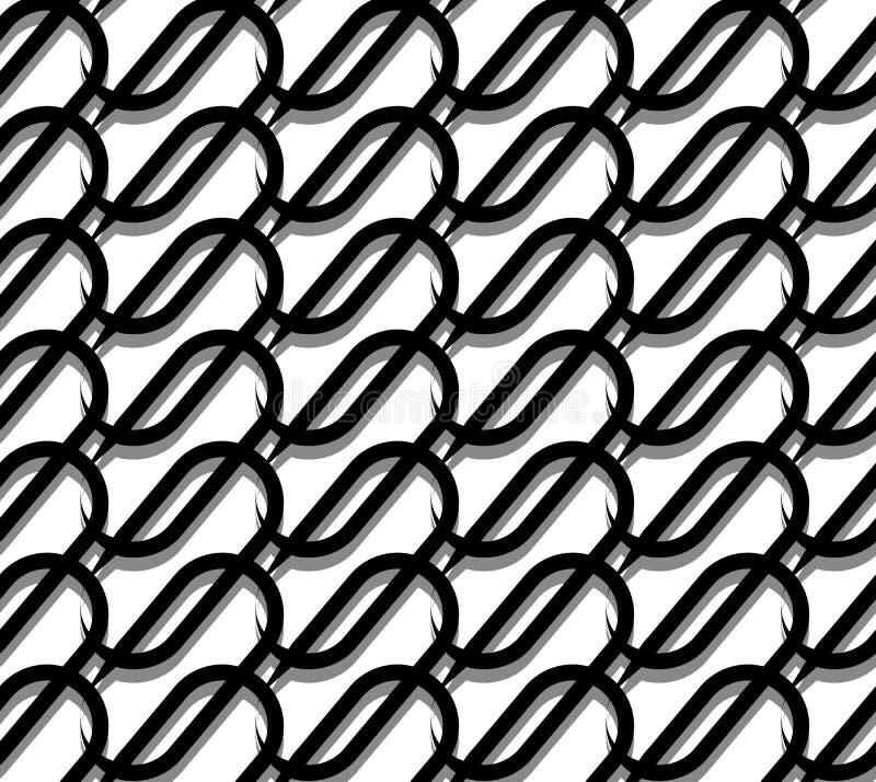 Grille, maille avec des lignes d'entrelacement Modèle géométrique qu'on peut répéter illustration de vecteur