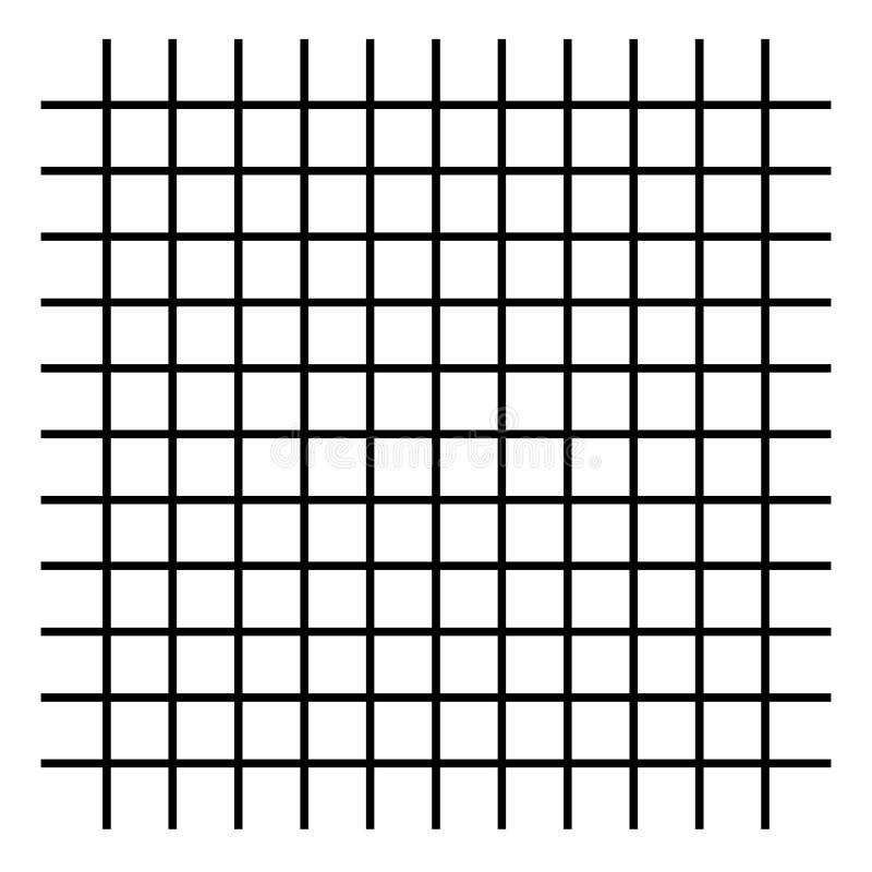 Grille, maille, lignes de intersection d'isolement sur le blanc illustration stock