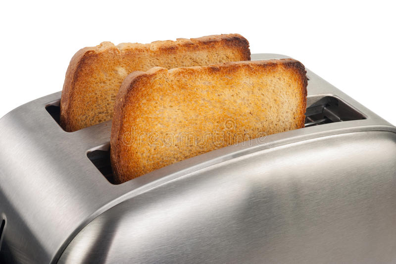 Grille-pain avec du pain photo libre de droits
