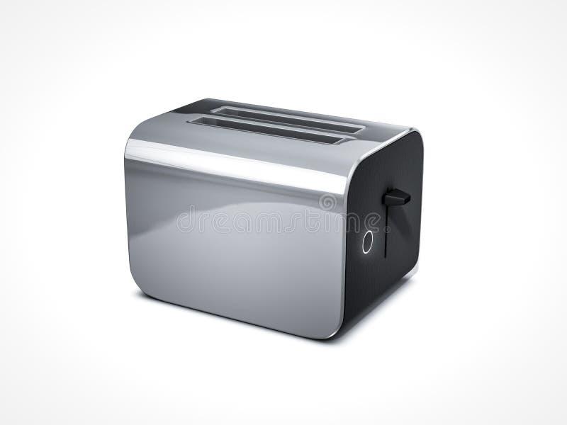 Grille-pain futuriste sur le fond blanc photo libre de droits