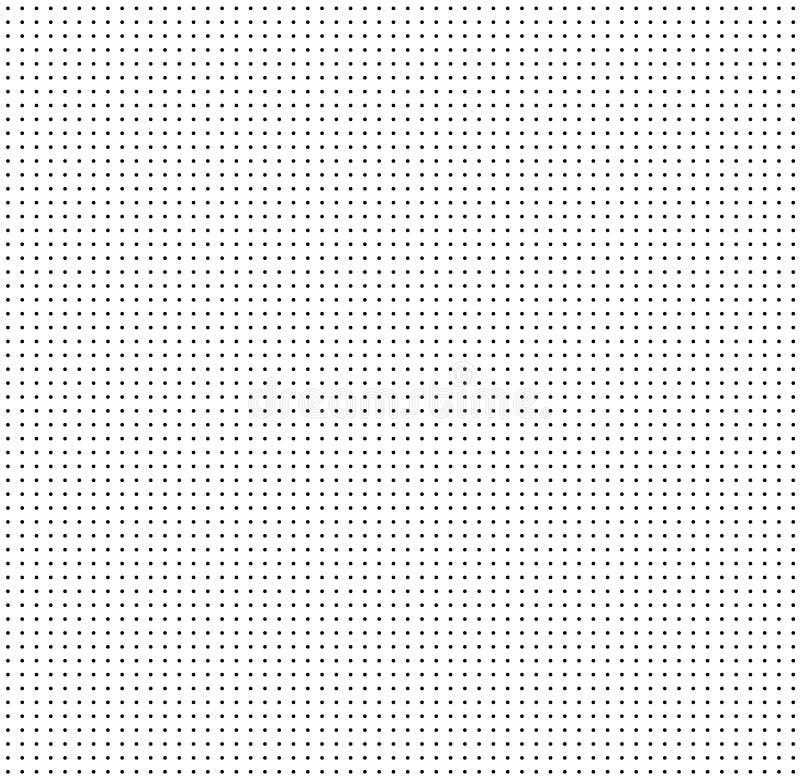 Grille pointillée sur le fond blanc Configuration sans joint avec des points point illustration libre de droits