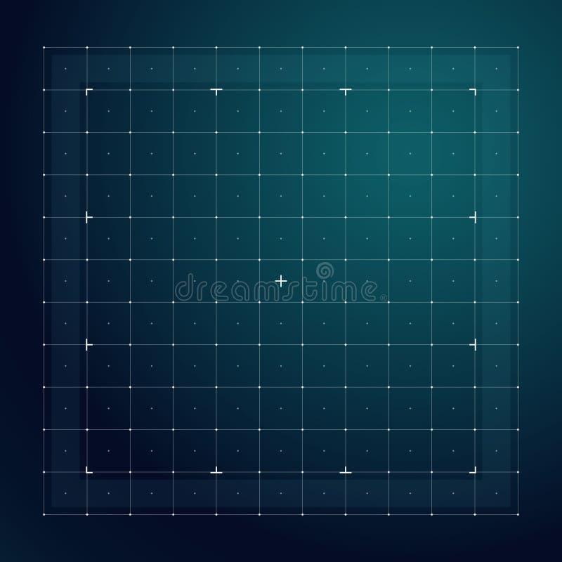Grille pour l'interface futuriste de hud Ligne modèle de vecteur de technologie illustration stock