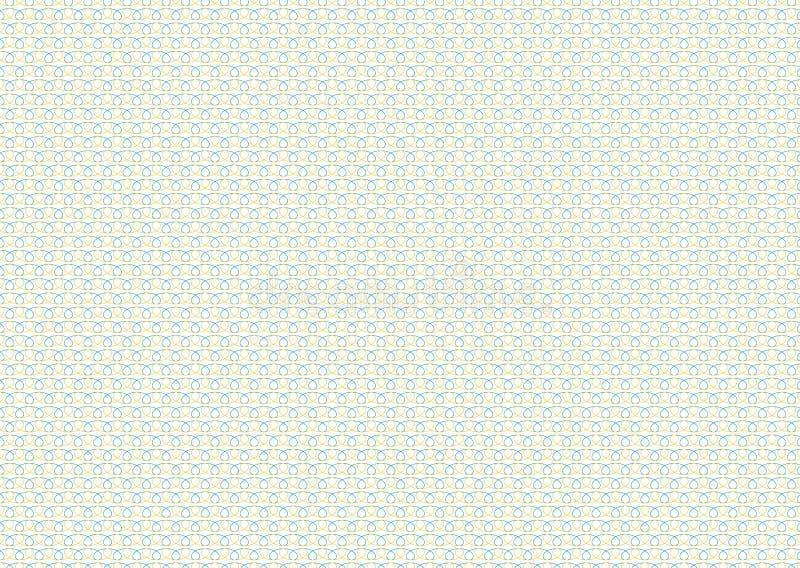 Grille sans couture de fond de vecteur de guilloche Texture d'ornement de moirage avec des vagues Modèle pour la garantie d'argen illustration stock