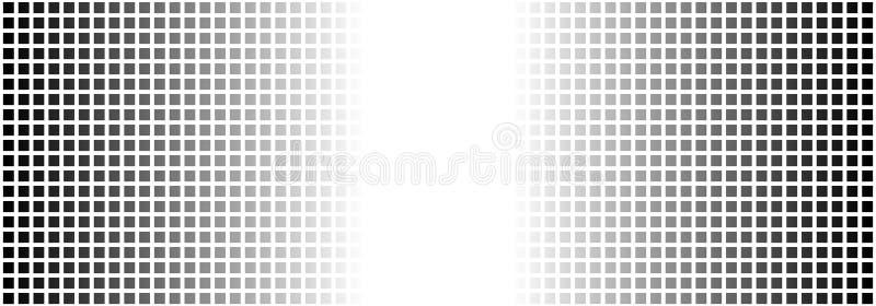 Grille tramée avec des couleurs de gradient noires et blanches illustration stock