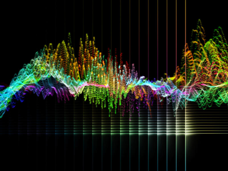 Grille virtuelle de vague virtuelle illustration de vecteur