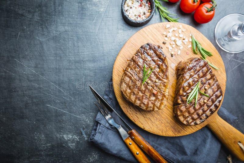 Grilled мраморизовало стейк мяса стоковое фото
