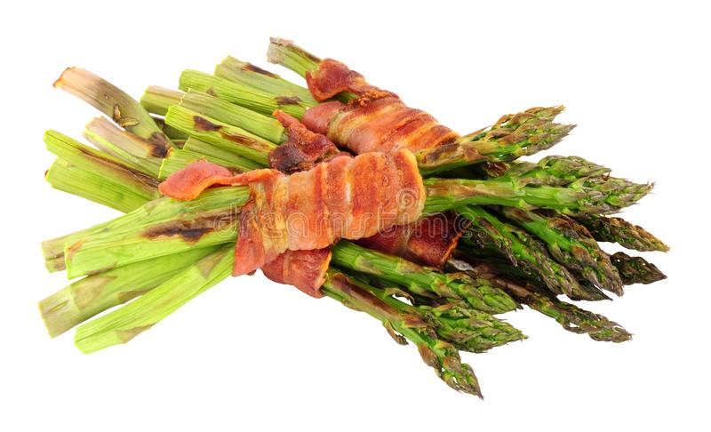 Grilled Asparagus Wrapped In Bacon stock image