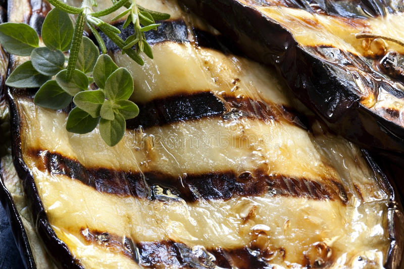 Download Grilled Aubergine stock image. Image of barbecue, close - 14857265