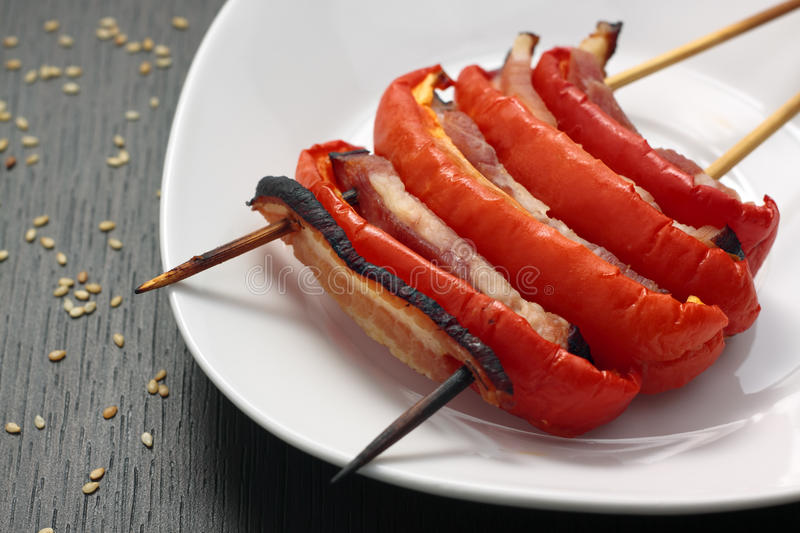 Download Grilled bacon and paprika stock image. Image of grill - 25405753