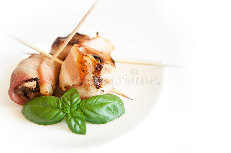 Download Grilled Bacon rolls stock image. Image of dinner, meat - 26282833