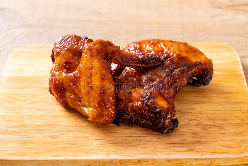 grilled and barbecue chicken stock image