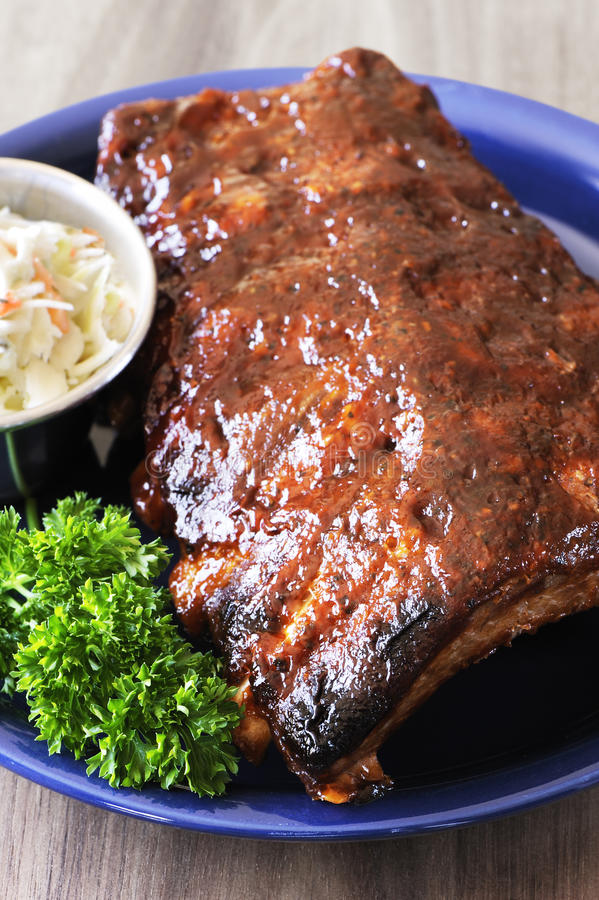 Download Grilled barbecue ribs stock photo. Image of coleslaw - 29095584