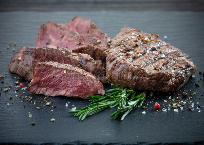 Grilled beef fillet steak meat royalty free stock photography