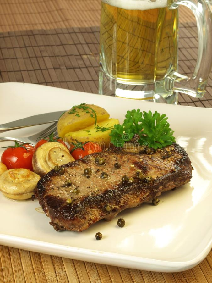 Grilled beef meat royalty free stock photos