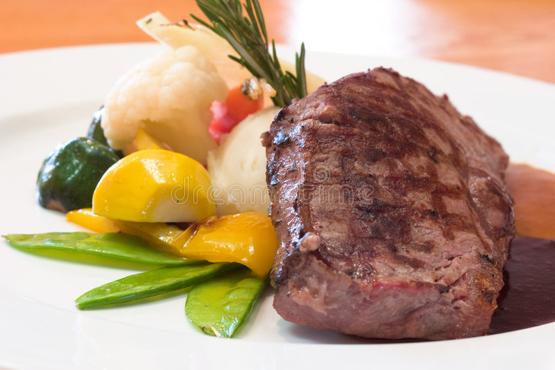 Grilled Beef Steaks royalty free stock photo
