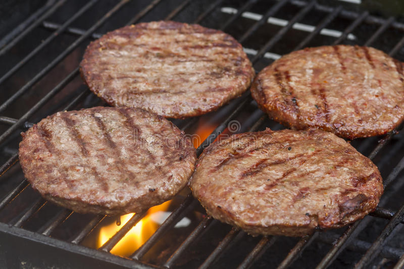 Grilled Burgers royalty free stock image