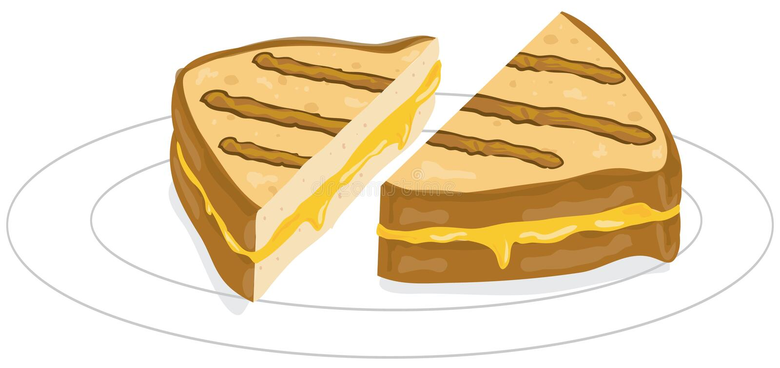 Grilled cheese. Illustration of a grilled cheese sandwich vector illustration