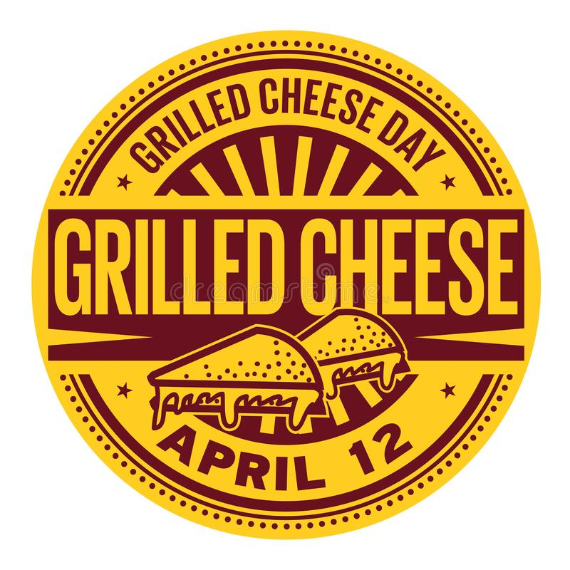 Free Grilled Cheese Day Stamp Royalty Free Stock Images - 110046649