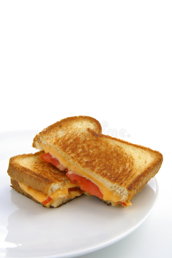 Download Grilled Cheese And Tomatoe Sandwich Stock Image - Image of butter, white: 1926049