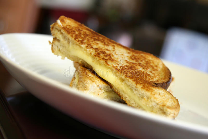 Download Grilled Cheese On White Plate Stock Photo - Image: 32885080