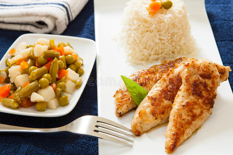 Download Grilled chicken stock photo. Image of lunch, cook, fresh - 30467864