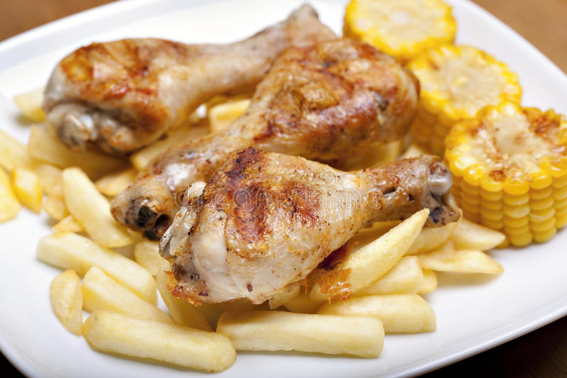 Download Grilled chicken leg stock image. Image of fried, cooked - 14155081