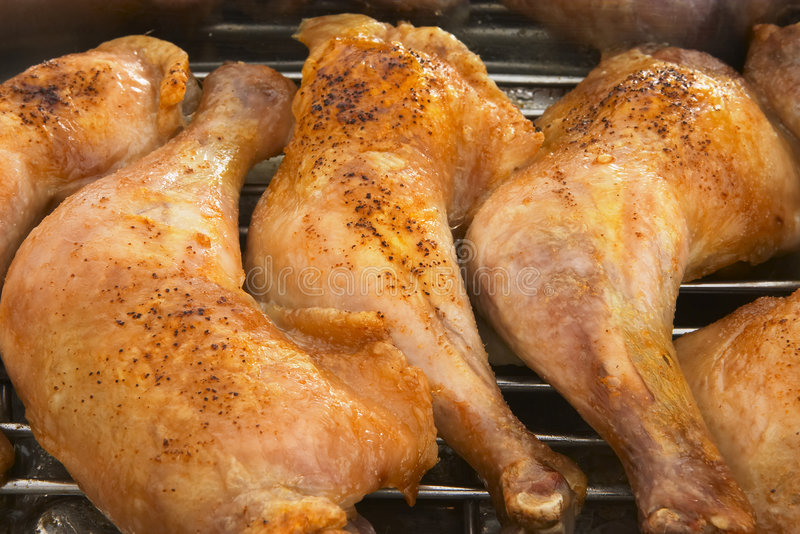 Grilled chicken legs royalty free stock photo