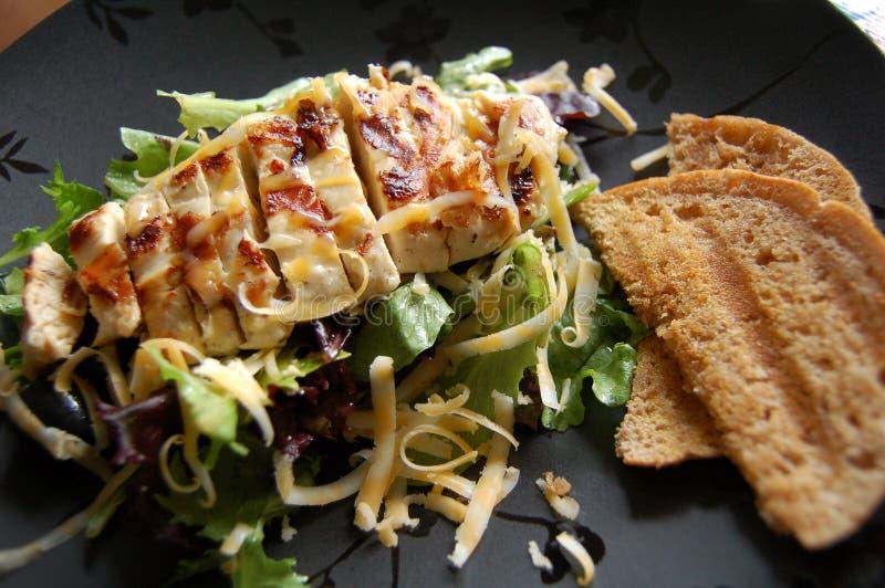Grilled chicken salad. stock photo