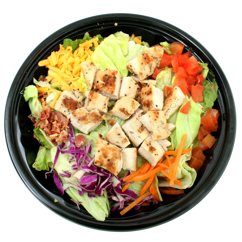 Free Grilled Chicken Salad To Go Royalty Free Stock Photo - 77875