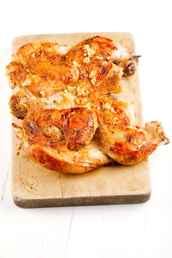 Grilled Chicken Tabaka Royalty Free Stock Images