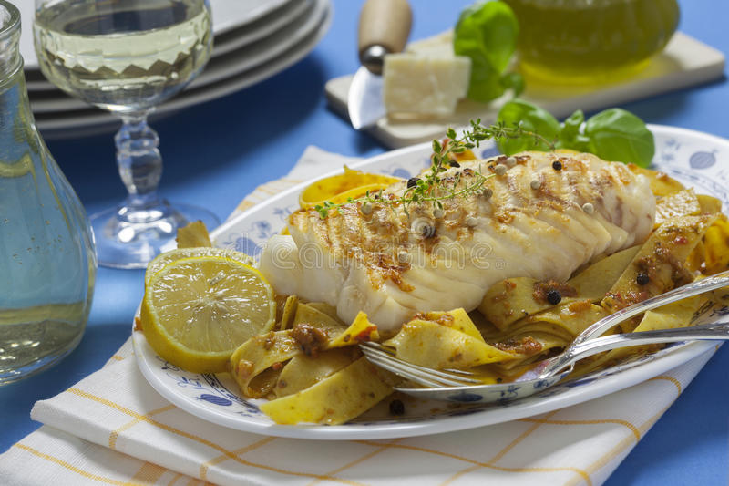 Grilled Cod Loin royalty free stock images