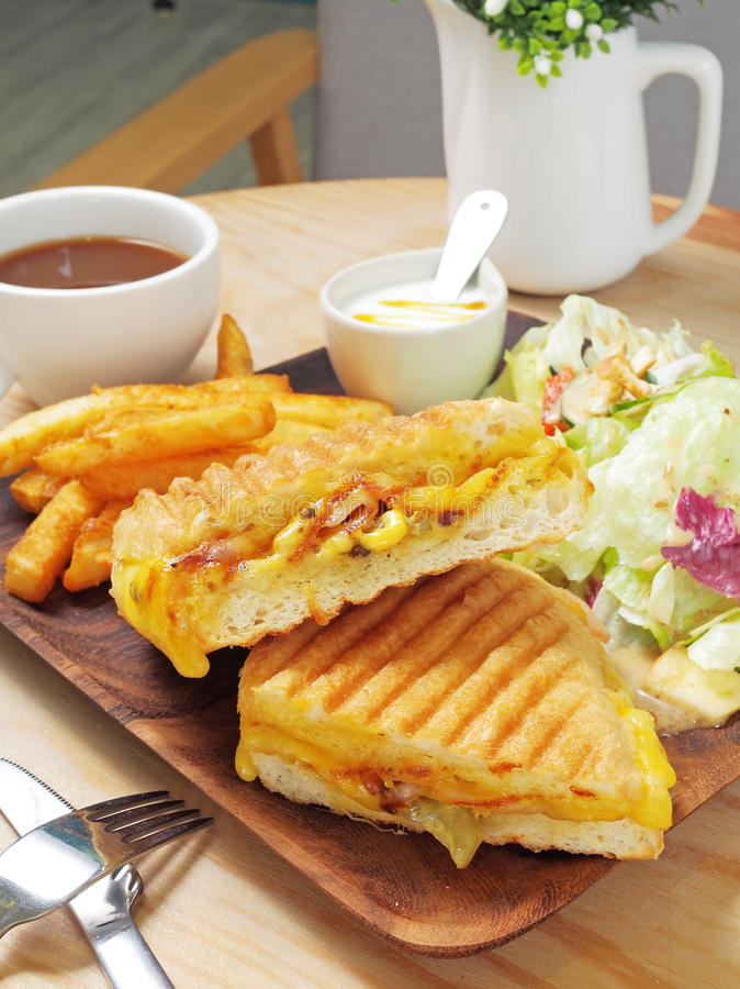 Grilled Cuban sandwich royalty free stock images
