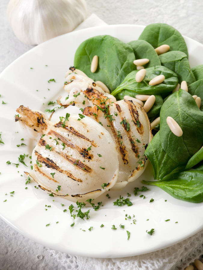 Download Grilled Cuttlefish With Fresh Stock Photo - Image: 22571466