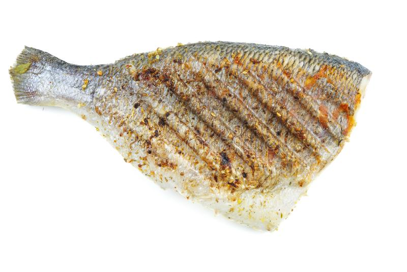 Grilled dorado fish royalty free stock photography
