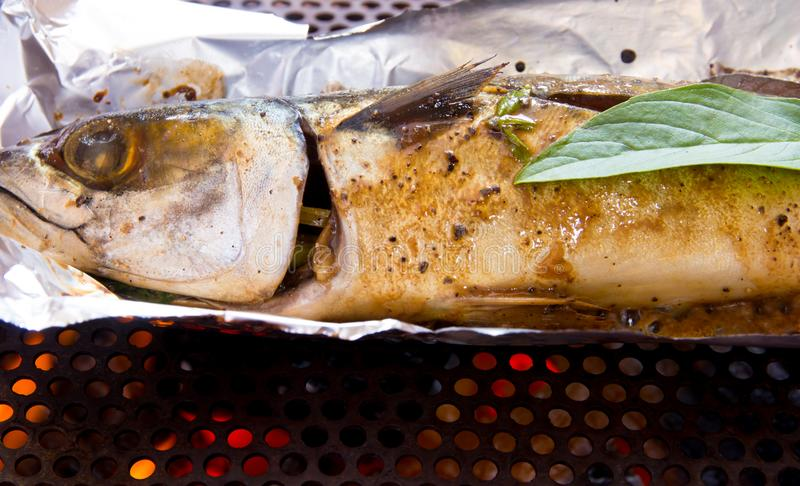 Grilled fish stock photography