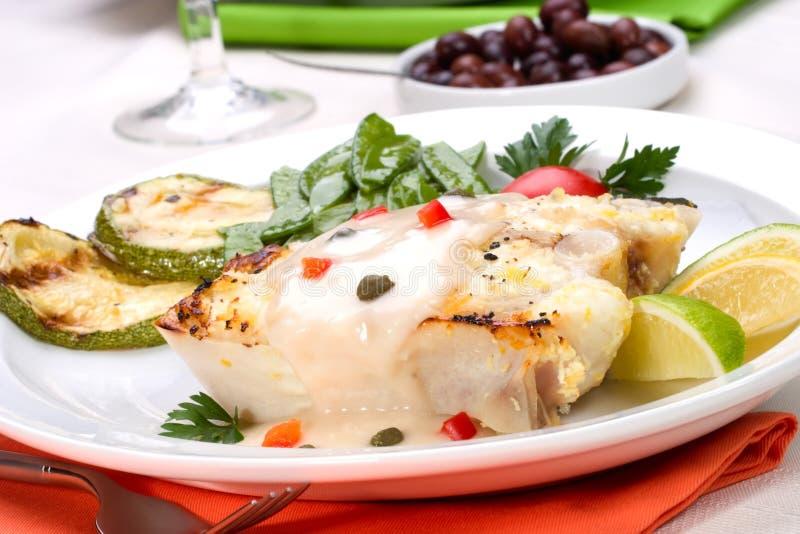 Download Grilled halibut stock image. Image of dish, lime, dinner - 3702709
