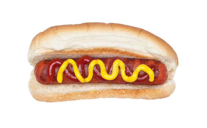 Grilled hotdog stock photos