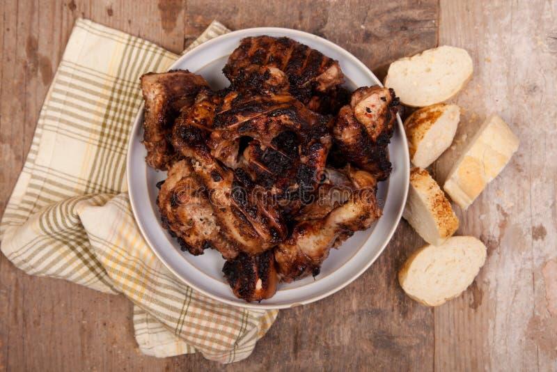 Grilled jerk chicken stock photo